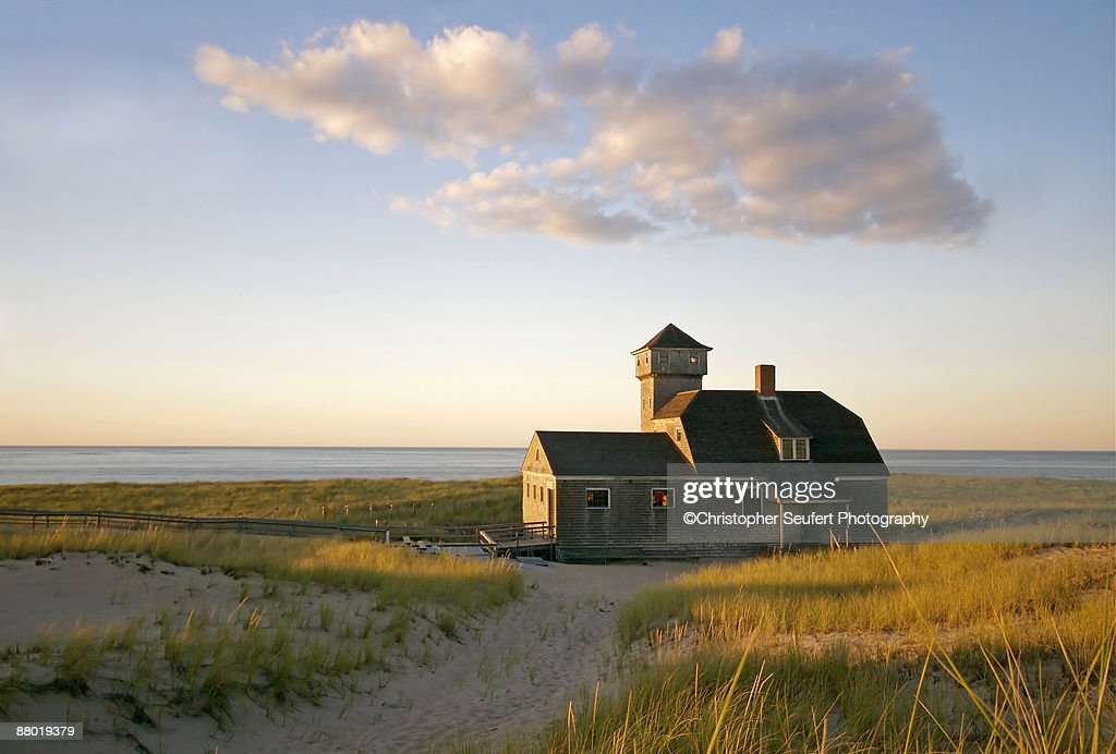 Old Harbor Lifesaving Station at Provincetown : Stock Photo