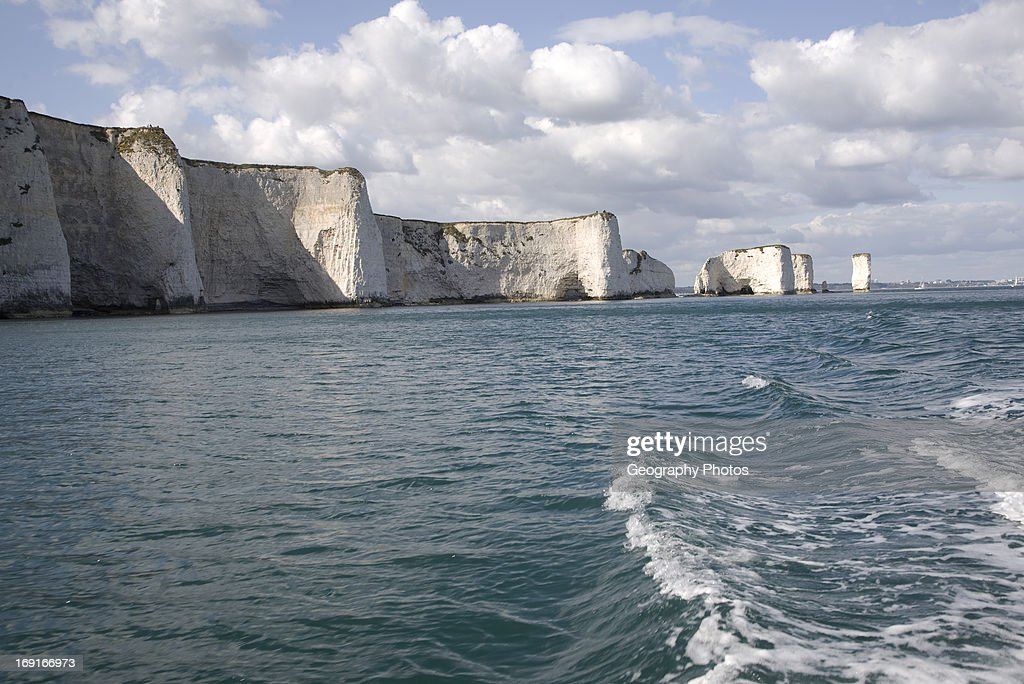 Old Harry chalk cliffs and stacks Dorset England