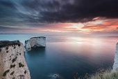 Beautiful Sunrise at Old Harry Rock In Dorset.