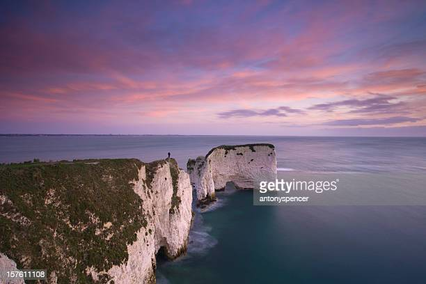 Old Harry rocks at dawn.