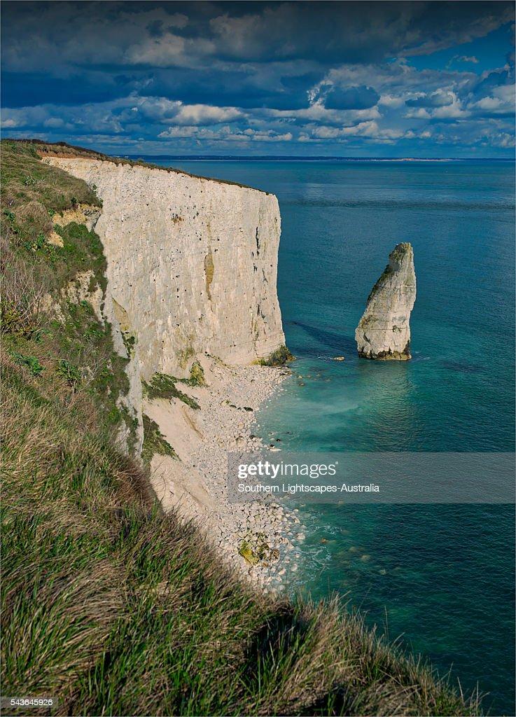 Old Harry Rocks, Dorset coastline, England, United Kingdom.