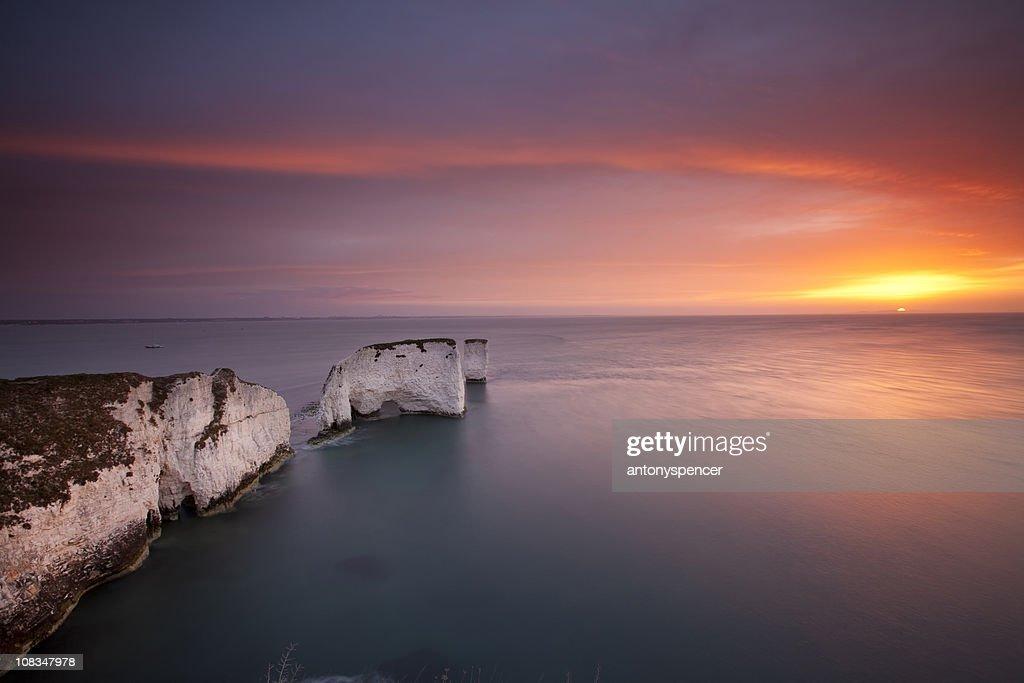 Old Harry Rocks, Sunrise.