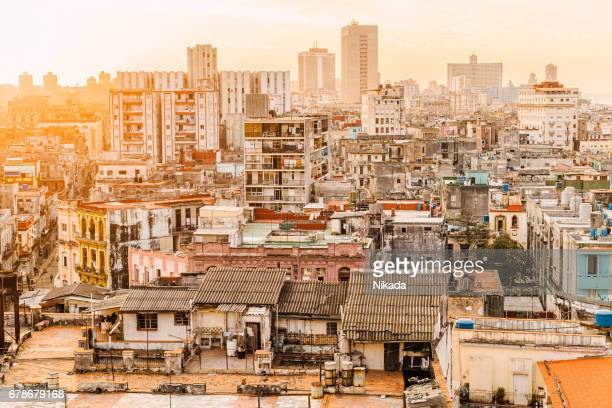 Old Havana, Aerial View at Sunset, Cuba