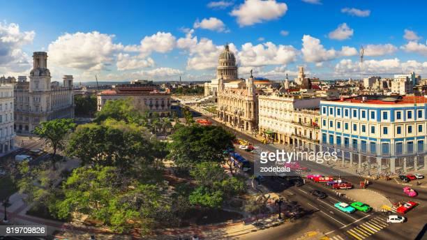 Oud Havana, Luchtfoto uitzicht, Cuba