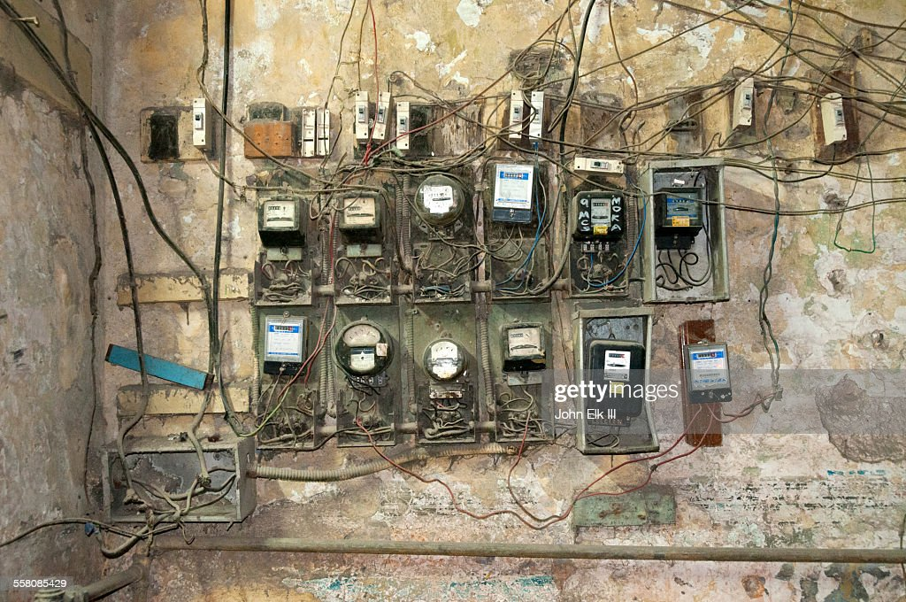 Old Havana Apartment House Electrical Wiring Stock Photo | Getty Images : old house wiring - yogabreezes.com