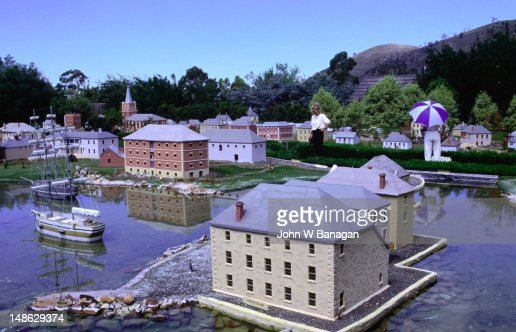 'Old Hobart', a model village in Richmond : Stock Photo