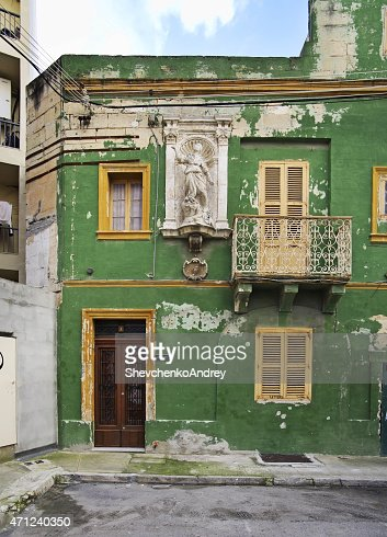 Old house in Sliema (Tas-Sliema). Malta island : Stock Photo
