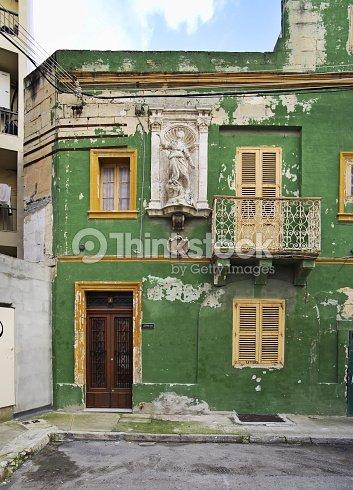 Old house in Sliema (Tas-Sliema). Malta island : Stock Photo