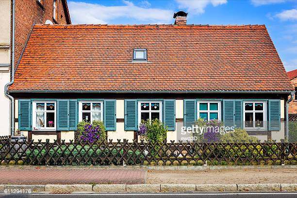 Old house with red roof tile, Germany