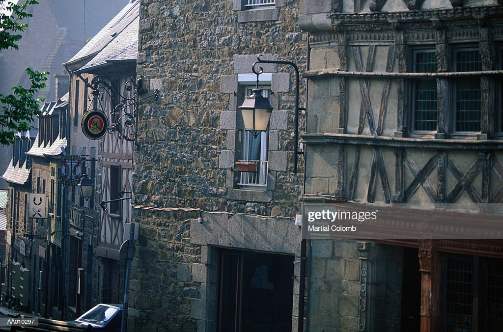 Old Houses in St Brieuc, France