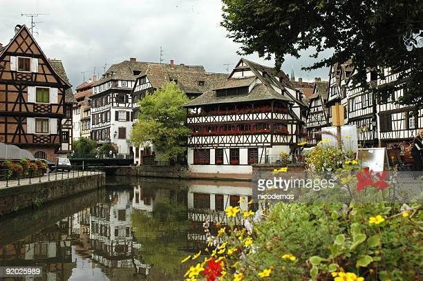 Alte Häuser in Straßburg, Frankreich