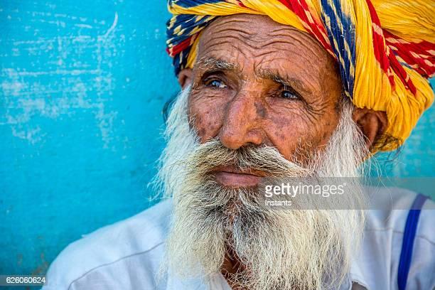 Homme indien vieille
