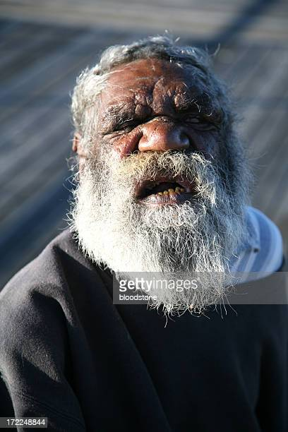 Old indigenous man