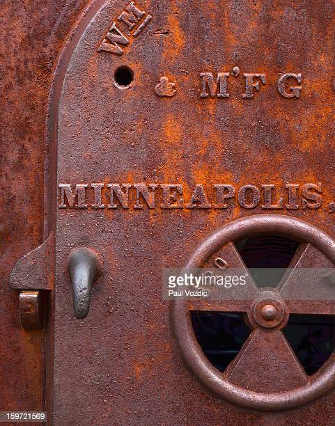 Old Industrial Furnace Door