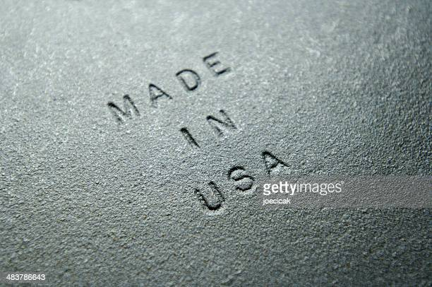 Old Iron Plate Embossed with MADE IN USA
