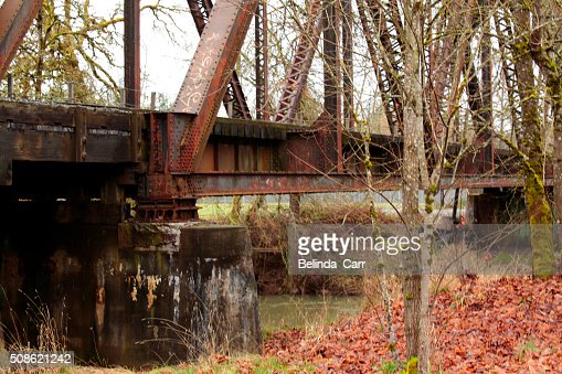 Old Iron Train Trestle : Stock Photo