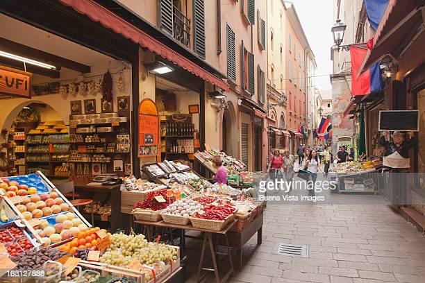 Old Italian market in Bologna.