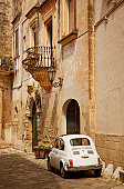 Old Italian Town and Car