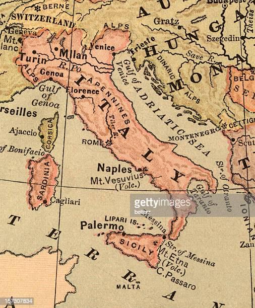 Vecchia mappa di Italia