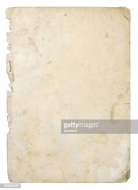 Old ivory grunge paper background with stains