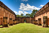 Old Jesuit ruins in Encarnacion, Paraguay