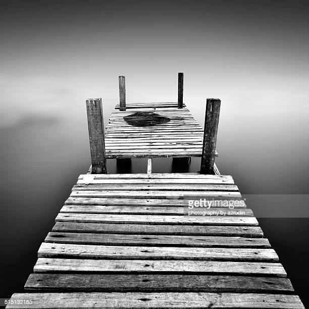 Old jetty (minimalist concept)