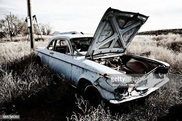 Old Junk Car Abandoned in Desert