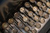 Old keys of an old typewriter.