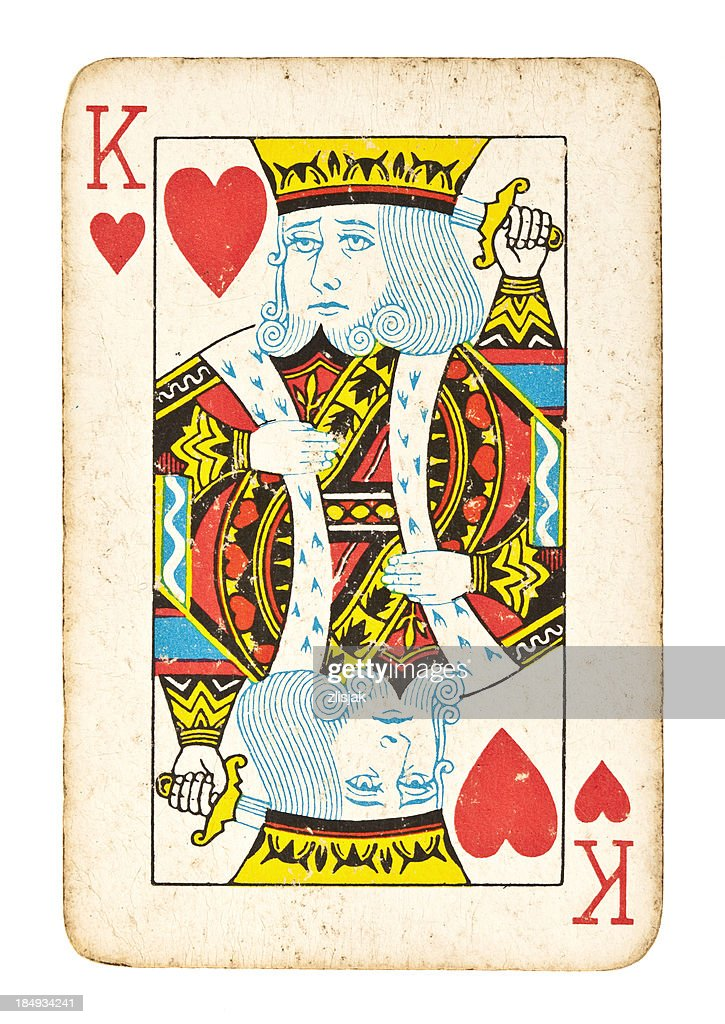 Old King of Hearts Isolated on White