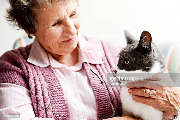 Old lady and her beloved cat, best friends forever!