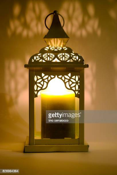 Old lantern with candle