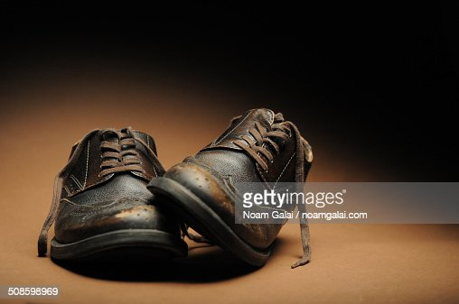 Old leather shoes : Stock Photo