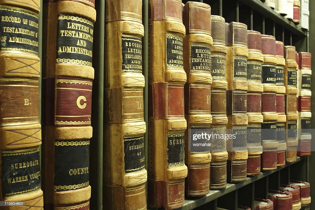 Old Legal Books : Stock Photo