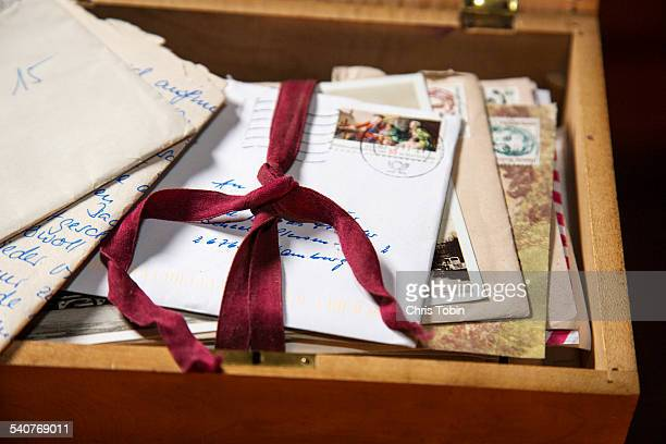 Old letters in box