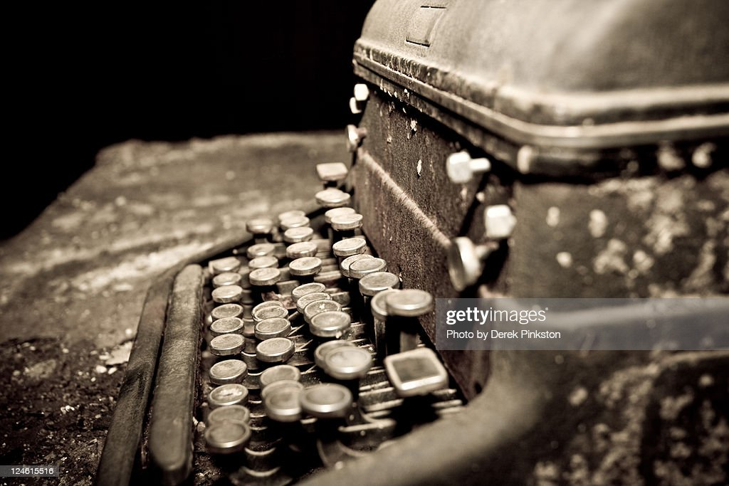 Old library type writer : Stock Photo
