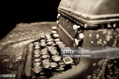 Old library type writer : Foto de stock