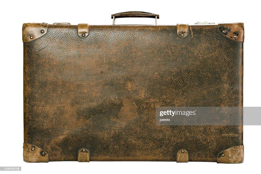 Valigia su bianco : Foto stock