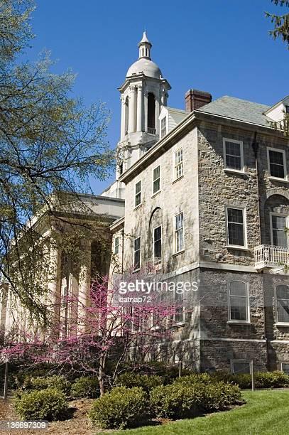 オールドメインペンシルバニア州立大学キャンパス、春の太陽の光
