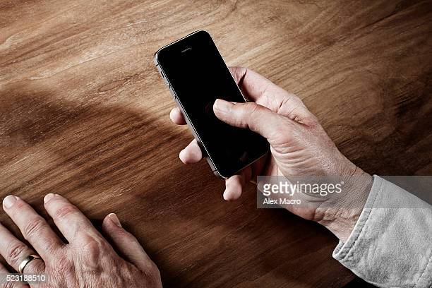 Old man and smart phone
