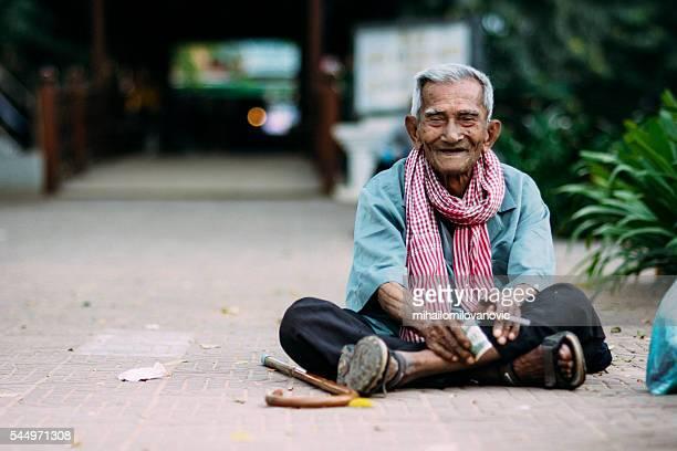 Vieil homme du Cambodge