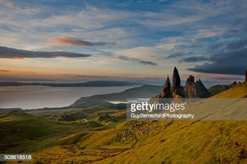 Old Man of storr at first light : Stock Photo