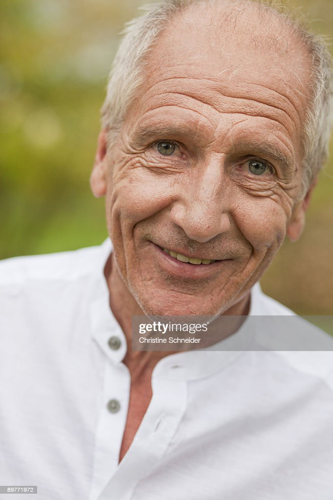 old man smiling : Stock Photo