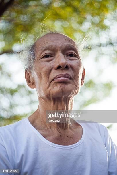Old man smilling