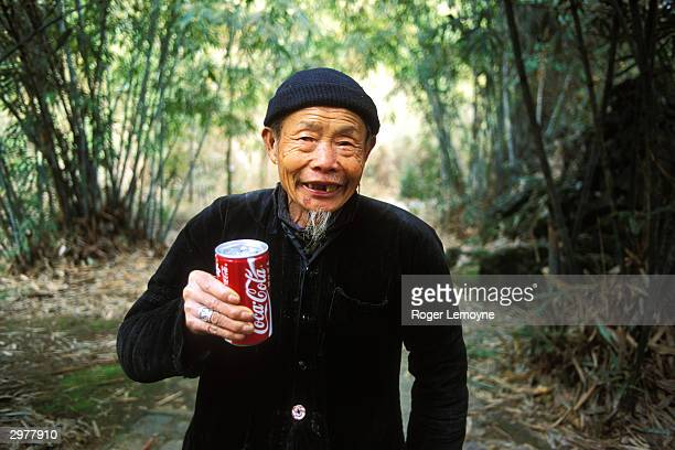 Old Man with a can of Coke China