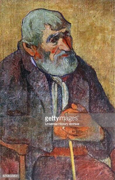 Old man with walking stick by Paul Gauguin PostImpressionist artist