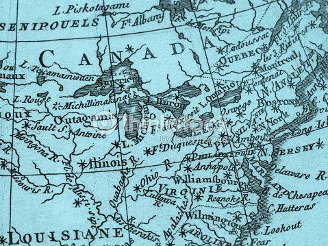 Old Map America East Coast Stock Photo - Thinkstock