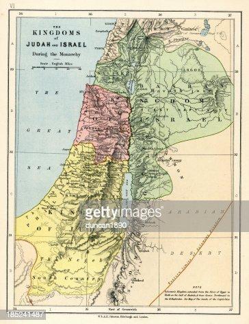 Old Map :も豊かなジュダーとイズラエル