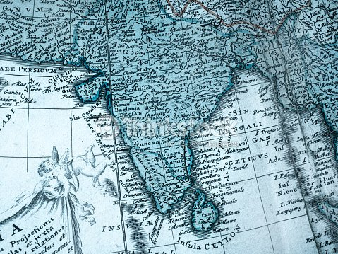 Old Map Of India Stock Photo Thinkstock