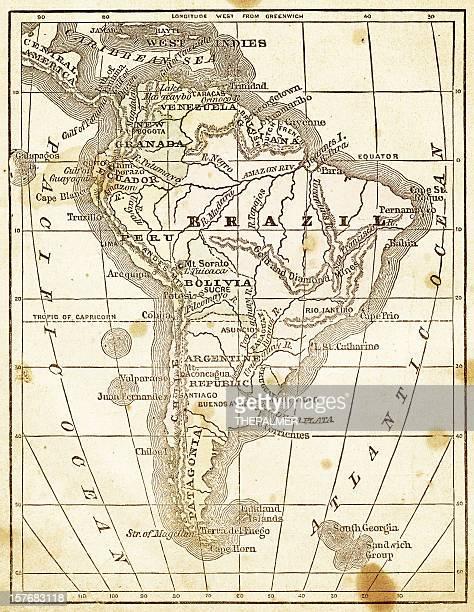 Antiguo Mapa de América del Sur