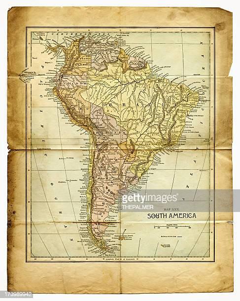 Antigo mapa da América do Sul
